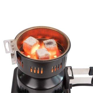 Elektrischer Shisha Kohleanzünder mit Griff 600W Schwarz klein