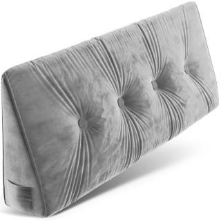 Dreieckiges keilförmiges Rückenkissen, Palettenkissen, Lounge Kissen, ideal als Kopfkissen, Nackenkissen oder Bett Kopfteil Kissen