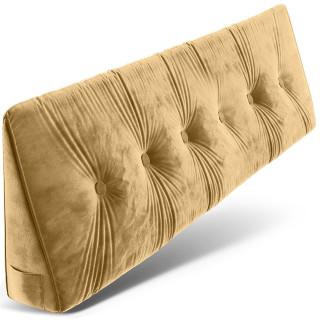 Dreieckiges keilförmiges Rückenkissen, Beige 180 cm, Palettenkissen, Lounge Kissen, ideal als Kopfkissen, Nackenkissen oder Bett Kopfteil Kissen